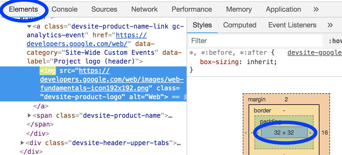DevTools元素的面板